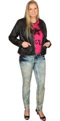 Juna Rose (Bestseller) - Smart jeans with stretch and belt straps