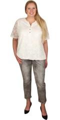 Cassiopeia - Jeans med strech og 5 lommer samt regulerbar elastik i taljen 7/8 benlængde