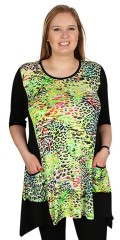 Handberg - Tunica with 3/4 sleeves and in super nice pattern on front and back the side