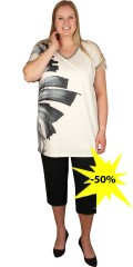 Handberg - Oversize t-shirt with v cutting and short wing sleeve