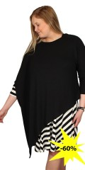 Handberg - Oversize knit tunica poncho with round neck