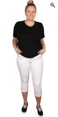 Handberg - T-shirt med korte ærmer og v-hals i strechy materiale