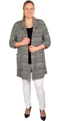 Handberg - Cardigan jacket with 2 pockets, can draped at the sleeves