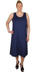 Q´neel - Lång klänning utan ärmar i läcker kvalitet