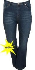Cassiopeia - Jeans bootcut mit 5 Taschen und Gurtträger in die Taille sowie Regulierbar Elastik