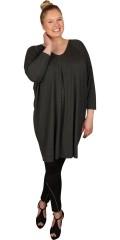 Q´neel - Oversize tunika med v-hals och 3/4 ärmar
