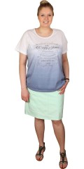 Zhenzi - T-shirt med rund hals og lille elastik rynk i begge sider