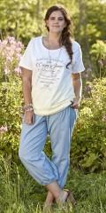 Zhenzi - Halblange Hosen mit Smock in die Taille und extra Weite in den Beinen