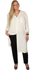 Veto - Lång skjorta klänning med ärmar der kan draperas med smart spund