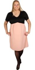 Juna Rose (Bestseller) - Enkelt klänning med v-hals och kort ärmar