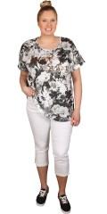Zhenzi - T-shirt med korte ærmer og smart print/tryk