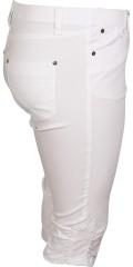 Zhenzi - Twist piraten halblange hosen mit elastik in ganze die taille und gürtel träger