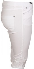 Zhenzi - Twist pirat stumpe bukser med elastik i hele taljen og bælte stropper