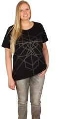 Cassiopeia - T-shirt med opsmøgede korte ærmer