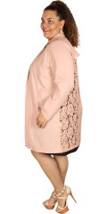 Juna Rose (Bestseller) - Cardigan/jacket with lace back and pockets