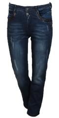 Cassiopeia - Hübsche jeans mit groben reissverschlüsse und zwei knöpfe in linning