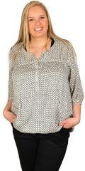 Cassiopeia - Skjorte bluse med stolpe lukning og 3/4 ærmer