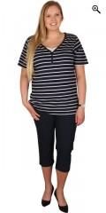 DNY (Marc Lauge) - Sød kortærmet t-shirt med snydetop