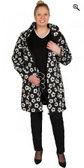Studio - Soft shell jacket with 3 pocket with zipper and detachable cap, in super smart print