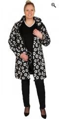 Studio - Bløt shell jakke med 3 lomme med glidelås og avtakbar hette, i super smart trykk