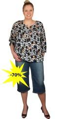 Studio - Fit 42 culotte jeans/knickers med vidde i benene. regulerbar elastik i taljen