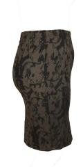 Zhenzi - Pencilskirt mit Spitze Druck und Elastik in ganze die Taille