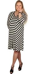 Gozzip - Tunika klänning med smart randar