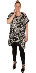 Gozzip - Oversize tunica with wing sleeves and round neck