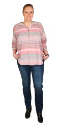 Cassiopeia - Sweet shirt blouse with 3/4 sleeves
