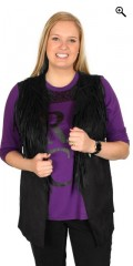 Studio - Stylish look a like suede vest with fringes