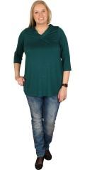 Zhenzi - T-shirt med 3/4 ærmer og v-hals i let a-facon