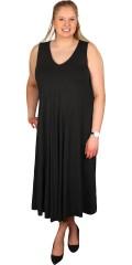 Que (Godske Group) - Lång klänning utan ärmar och med v-hals