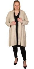 Que (Godske Group) - Oversize que jacket/cardigan in suede look, is closed with zipper