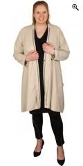 Que (Godske Group) - Oversize que jakke/kardigan i semske look, lukkes med glidelås