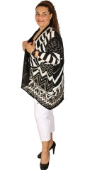 Q´neel - Nice oversize party cardigan with nice pattern