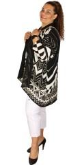 Q´neel - Skøn oversize party cardigan med flot mønster