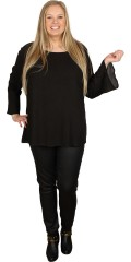 Cassiopeia - Crepe blouse with trumpet sleeves