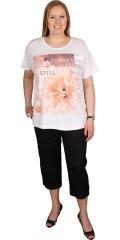 Zhenzi - T-shirt with short sleeves and nice motif