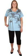 Zhenzi - T-shirt med korte ermer og trykk