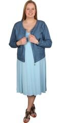 Zhenzi - Sommer kjole med brede stropper og smart rynke effekter ved bryst