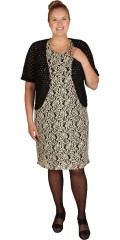 Zhenzi - Bolero cardigan in nice lace and with short sleeves