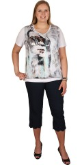 CISO (Brandtex) - T-shirt with short sleeves and round neck