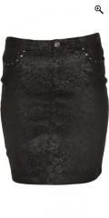 Cassiopeia - Super smart mønsteret nederdel med bæltestropper og 4 lommer