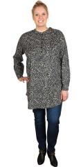 Cassiopeia - Lang tunika skjorte med stolpe lukning og lange ærmer