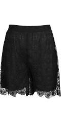 Studio - Exklusiv Spitze Shorts mit Elastik in ganze die Taille