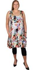 Gozzip - Super vacker klänning utan ärmar och med 2 stora fickor