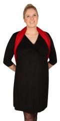 Cassiopeia - Flot kjole med fint snit og 3/4 ærmer