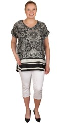 DNY (Marc Lauge) - Orissa blouse, nice top with v cutting