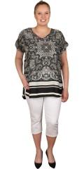 DNY (Marc Lauge) - Orissa blouse, flott topp med v-hals