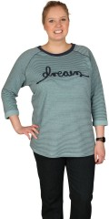 Cassiopeia - Stylish soft sweat shirt with 3/4 sleeves with hard rolled-up